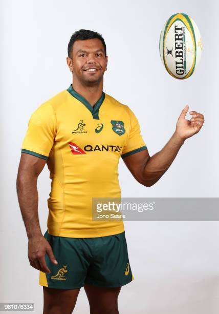 Kurtley Beale poses during the Australian Wallabies headshot session on May 7 2018 in Gold Coast Australia