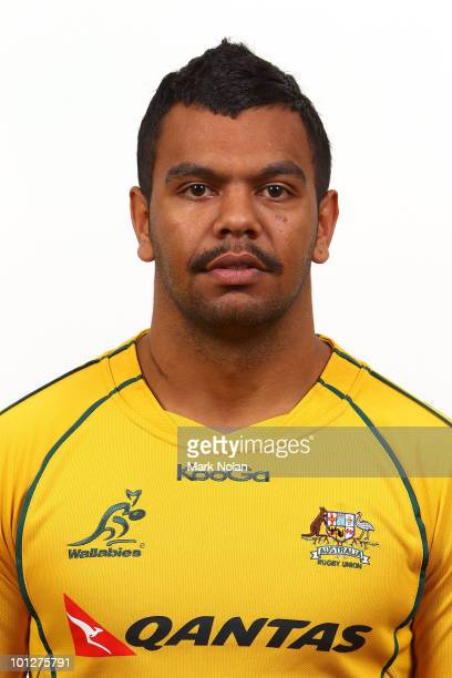 Kurtley Beale poses for a photo during the Wallabies squad Headshots at the Crowne Plaza at Crown Plaza Coogee on May 30 2010 in Sydney Australia