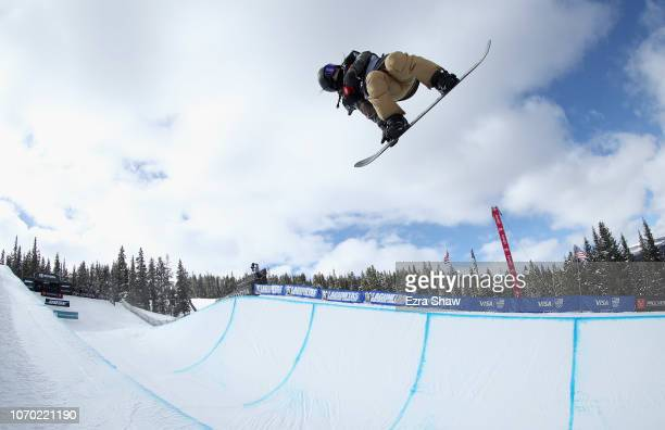 Kurumi Imai of Japan competes in the Ladies' Snowboard Halfpipe Finals at the 2018 US Grand Prix at Copper Mountain on December 8 2018 in Copper...