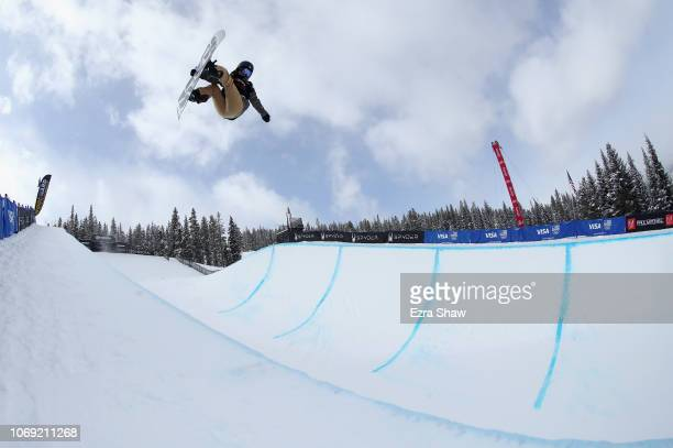 Kurumi Imai of Japan competes in the Ladies' Snowboard Halfpipe Qualifiers for 2018 US Grand Prix at Copper Mountain on December 6 2018 in Copper...