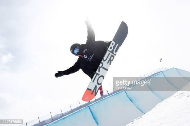 Kurumi Imai of Japan competes in the Snowboard Halfpipe Qualification of the FIS Snowboard World Championships on February 06 2019 at Park City...