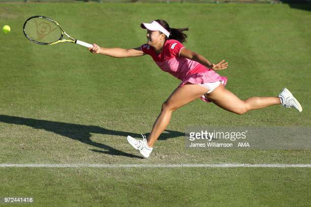 Kurumi Nara of Japan during Day 4 of the Nature Valley open at Nottingham Tennis Centre on June 12 2018 in Nottingham England