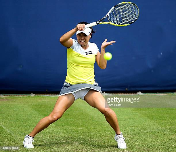 Kurumi Nara of Japan in action during day two of the Aegon Classic at Edgbaston Priory Club on June 10 2014 in Birmingham England