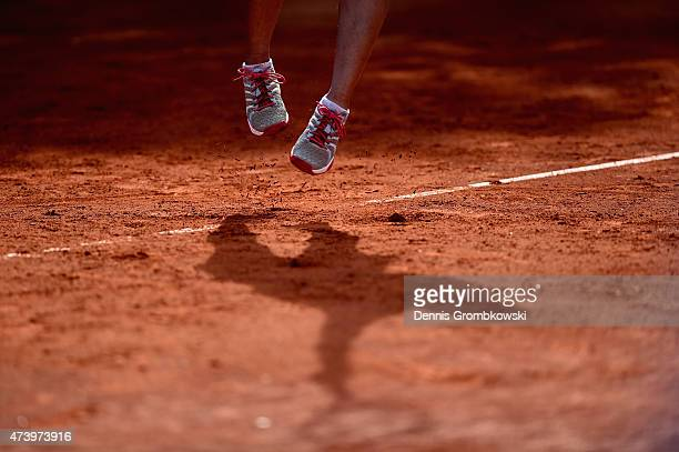 Kurumi Nara of Japan serves during Day Four of the Nuernberger Versicherungscup 2015 on May 19 2015 in Nuremberg Germany