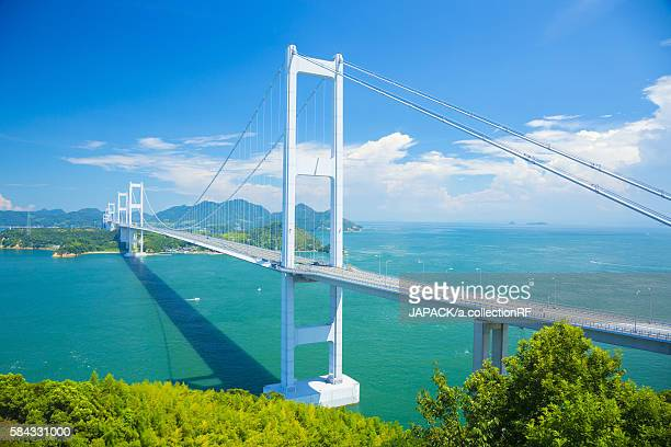 Kurushima Kaikyo Bridge of Setouchi Shimanami Kaido Expressway