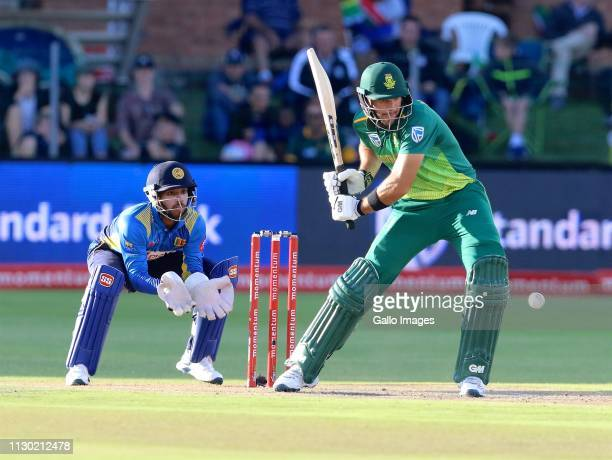 Kusal Mendis of Sri Lanka adn Aiden Markram of South Africa during the 4th Momentum ODI match between South Africa and Sri Lanka at St Georges Park...
