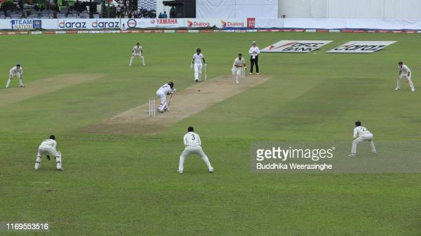 Kusal Mendis of Sri Lanka bats during day one of the Second Test match between Sri Lanka and New Zealand at P Sara Oval Stadium on August 22 2019 in...