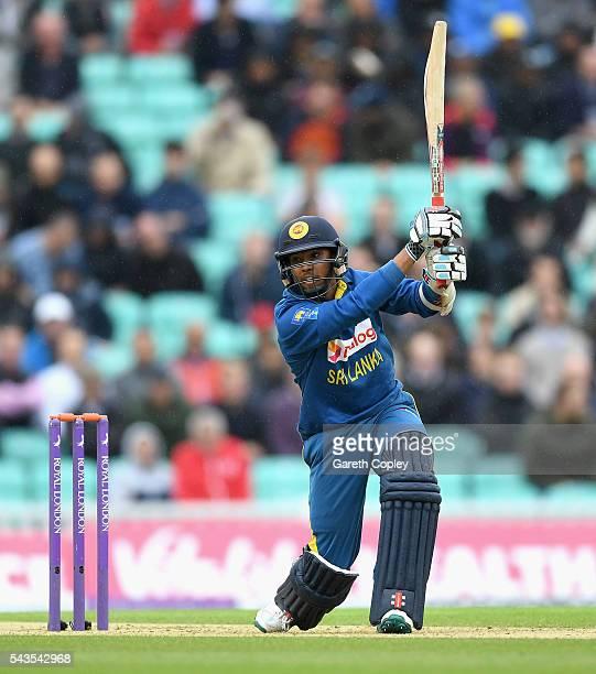 Kusal Mendis of Sri Lanka bats during the 4th ODI Royal London One Day International match between England and Sri Lanka at The Kia Oval on June 29...