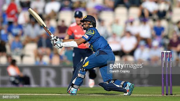 Kusal Mendis of Sri Lanka bats during the Natwest International T20 match between England and Sri Lanka at Ageas Bowl on July 5 2016 in Southampton...