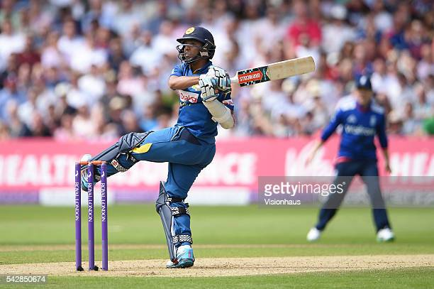 Kusal Mendis of Sri Lanka batting during the 1st Royal London ODI between England and Sri Lanka at Trent Bridge on June 21 2016 in Nottingham United...
