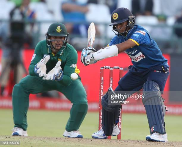 Kusal Mendis of Sri Lanka during the 4th ODI between South Africa and Sri Lanka at PPC Newlands on February 07 2017 in Cape Town South Africa