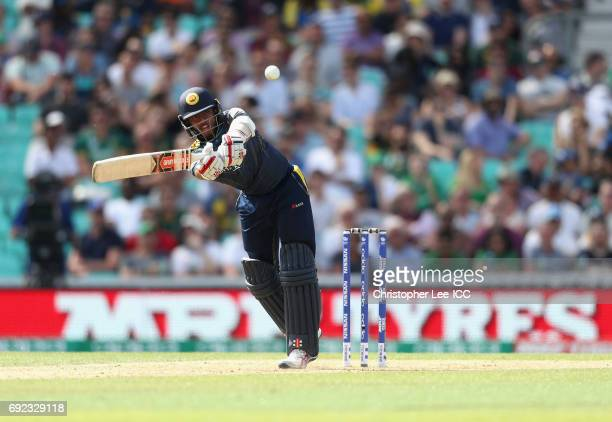 Kusal Mendis of Sri Lanka in action during the ICC Champions Trophy Group B match between Sri Lanka and South Africa at The Kia Oval on June 3 2017...
