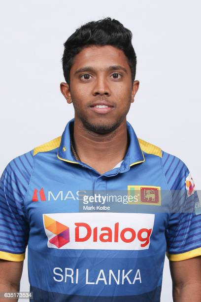 Kusal Mendis of Sri Lanka poses during a Sri Lanka headshots session at the Realm Hotel on February 14 2017 in Canberra Australia