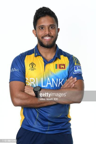 Kusal Mendis of Sri Lanka poses for a portrait prior to the ICC Cricket World Cup 2019 at the Grand Harbour Hotel on May 26 2019 in Southampton...