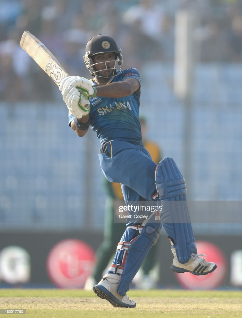 Kusal Perera of Sri Lanka bats during the ICC World Twenty20 Bangladesh 2014 Group 1 match between Sri Lanka and South Africa at Zahur Ahmed Chowdhury Stadium on March 22, 2014 in Chittagong, Bangladesh.
