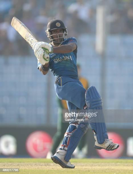 Kusal Perera of Sri Lanka bats during the ICC World Twenty20 Bangladesh 2014 Group 1 match between Sri Lanka and South Africa at Zahur Ahmed...