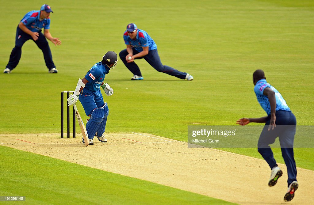 Kusal Perera Of Sri Lanka Looks Back As He Is Caught Out By Alex