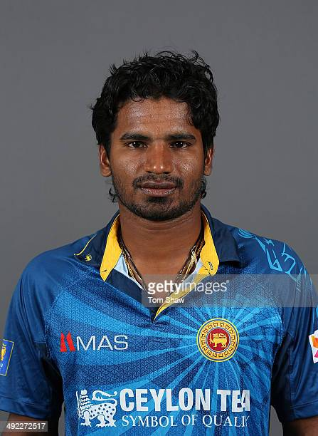 Kusal Perera of Sri Lanka poses for a headshot during the Sri Lanka nets session at The Kia Oval on May 19 2014 in London England