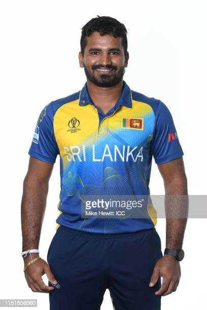 Kusal Perera of Sri Lanka poses for a portrait prior to the ICC Cricket World Cup 2019 at the Grand Harbour Hotel on May 26 2019 in Southampton...