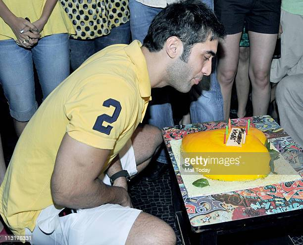 Kushal Punjabi at his birthday bash at Andheri Mumbai on April 25 2011