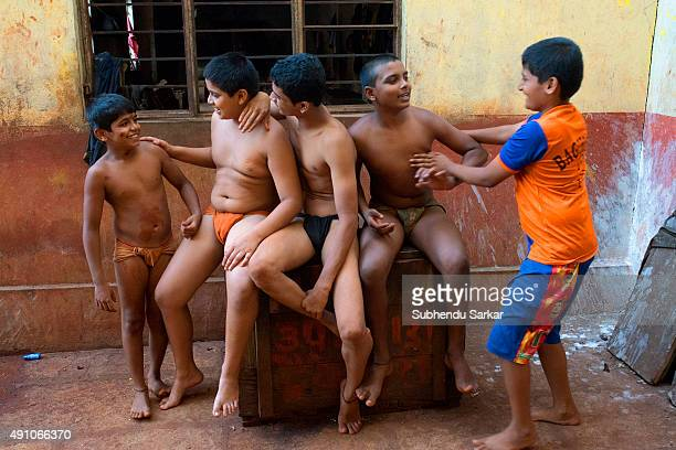 KOLHAPUR MAHARASHTRA INDIA Kushti or traditional mud wrestling is an ancient sport in India and had been patronized by kings and princes in the past...