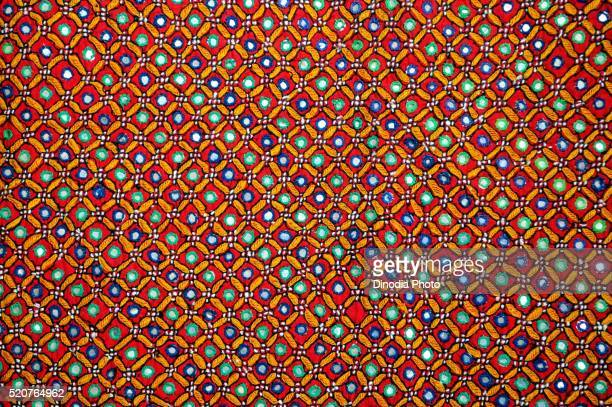 kutchi handicraft work or mutwa handicraft at bhuj, kutch, gujarat, india - embroidery stock pictures, royalty-free photos & images