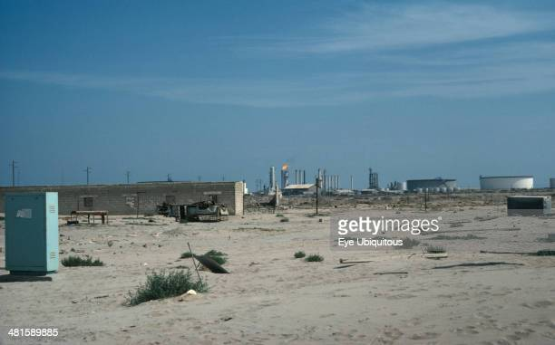 Kuwait Al Zoor Distant desert oil fields