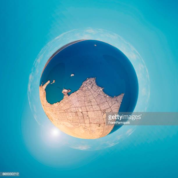 Kuwait City 3D Little Planet 360-Degree Sphere Panorama