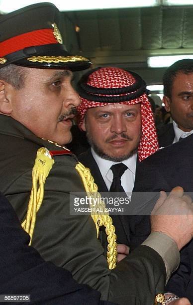King Abdullah II of Jordan attends the funeral of the late Emir of Kuwait Sheikh Jaber alAhmad alSabah who died Sunday aged 79 after 28 years in...