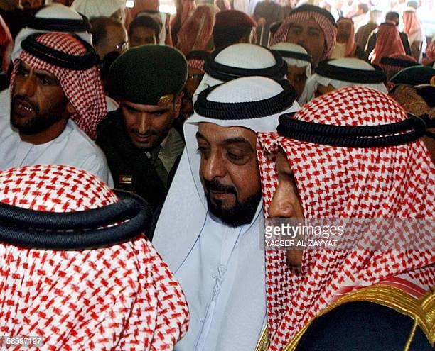 President of UAE Sheikh Khalifah bin Zayed al-Nhayyan and other Arab leaders attend the funeral of the late Emir of Kuwait Sheikh Jaber al-Ahmad...
