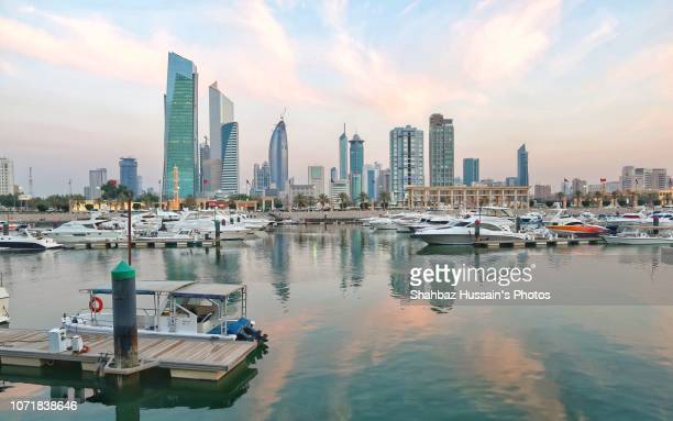 kuwait city - kuwait city stock photos and pictures