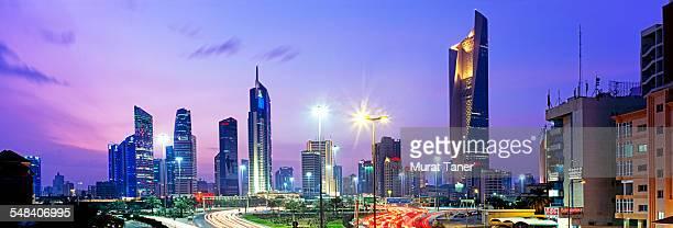 Kuwait City skyline and Al Hamra Tower