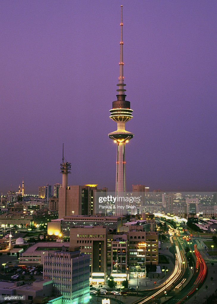Kuwait City The Liberation Tower Stock Photo - Getty Images