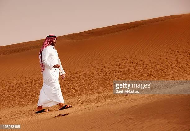 Kuwait - Man Walking in the Desert part II
