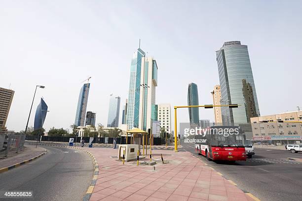 kuwait skyline - kuwait city stock pictures, royalty-free photos & images