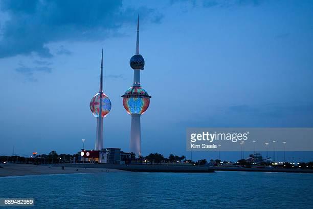 Kuwait Towers,Kuwait City, Persian Gulf, sunset