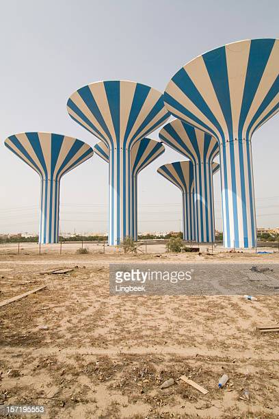 kuwait watertowers - kuwait city stock pictures, royalty-free photos & images