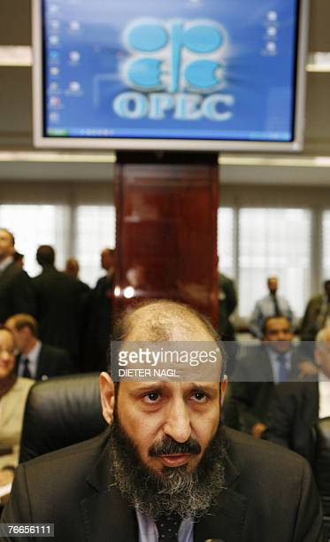 Kuwaiti Acting Oil Minister Mohammad alOlaim speaks 11 September 2007 before an OPEC ministers meeting at the organization's headquarters in Vienna...