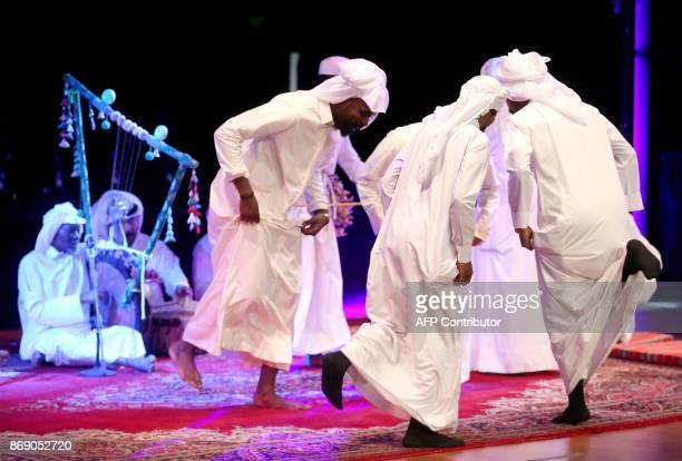A Kuwaiti band performs traditional music during an event at the Yarmouk cultural centre in Kuwait City on November 1 2017 / AFP PHOTO / Yasser...