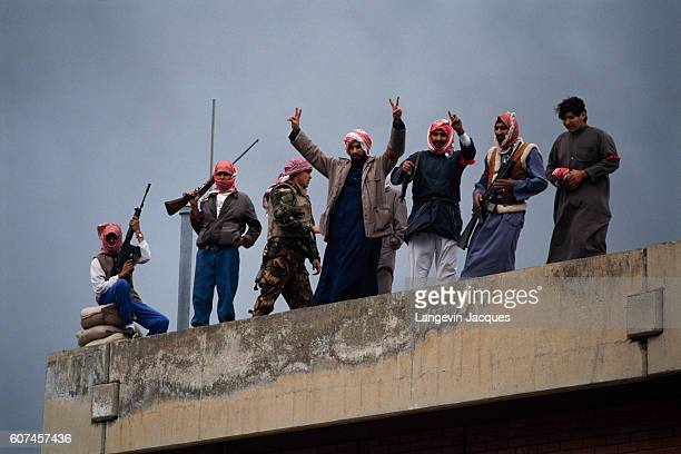 Kuwaiti citizens greet coalition forces as the troops move towards Kuwait City during the Persian Gulf War In August of 1990 Iraqi president Saddam...