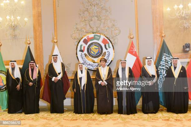 Kuwaiti Emir Sheikh Sabah alAhmad AlSabah Emir of Qatar Sheikh Tamim bin Hamad Al Thani Secretary general of the Gulf Cooperation Council Abdullatif...