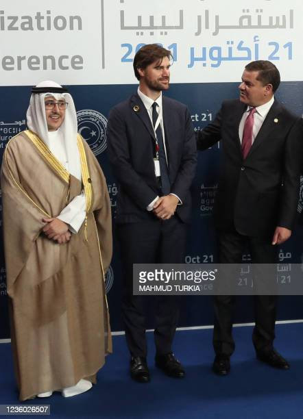 Kuwaiti Foreign Minister Ahmad Nasser Mohammad al-Sabah , Britain's diplomat at the Foreign Office Charles King , and Libya's Prime Minister...