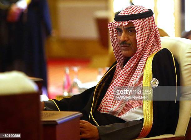 Kuwaiti Foreign Minister Sabah AlKhalid alSabah attends the meeting of Foreign Ministers of the Gulf Cooperation Council prior the start of the GCC...