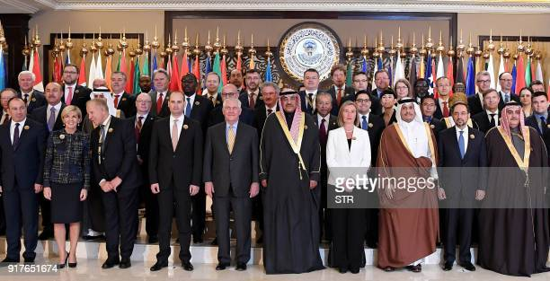 Kuwaiti Foreign Minister Sheikh Sabah alKhaled alSabah US Secretary of State Rex Tillerson EU Foreign Policy Chief Federica Mogherini Qatari Foreign...