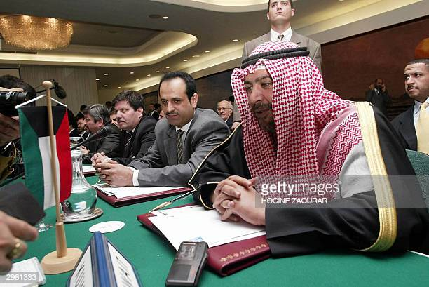 Kuwaiti Oil Minister AlAhmad AlSabah Ahmad Fahad talks to reporters on the last day of the Organization of Petroleum Exporting Countries meeting in...
