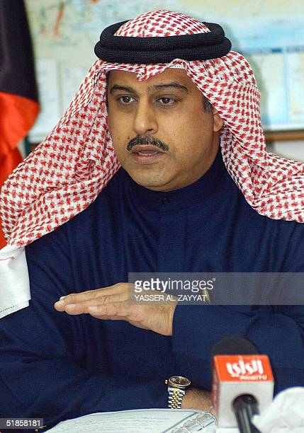 Kuwaiti oil ministry undersecretary Issa alOun talks to reporters in Kuwait City 14 December 2004 following a meeting of the KuwaitiIraqi higher...
