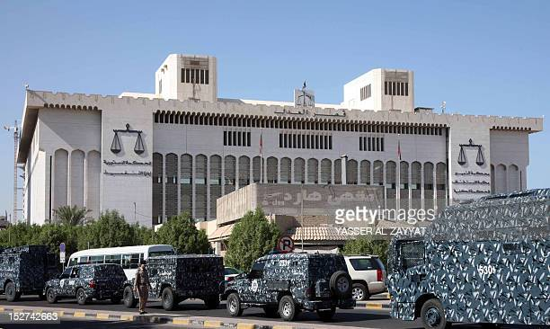 Kuwaiti special forces secure the area near the palace of justice in Kuwait City on September 25 2012 ahead of a crucial ruling by the top court on...