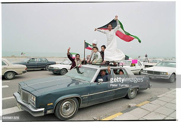 Kuwaitis Celebrating Victory in Gulf War