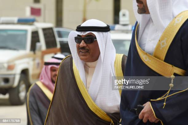 Kuwait's Foreign Minister Sheikh Sabah alKhaled alSabah arrives for a meeting of the Gulf foreign ministers in the Saudi capital Riyadh on May 17 a...