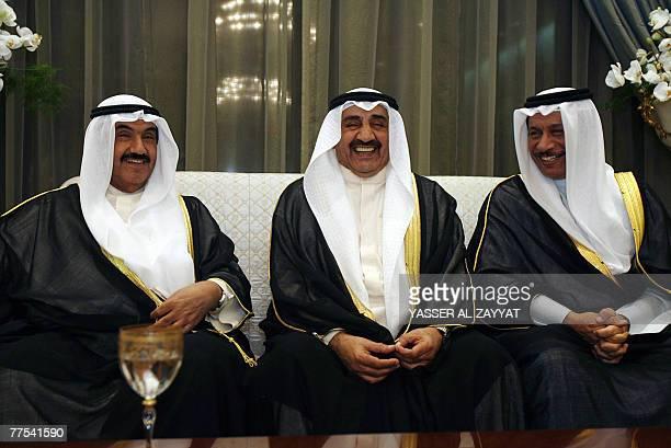 Kuwait's Prime Minister Sheikh Nasser alMohammed alSabah Defence Minister Sheikh Jaber alMubarak and Parliament Speaker Assembly Jassem Mohammed...